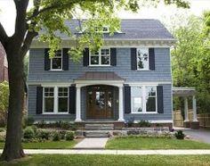 Blue+House+With+Black+Shutters | Richard Freeman blue house black shutters