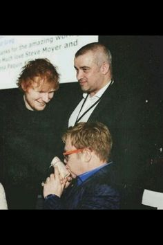 Ed, Stu and Elton John - love this picture