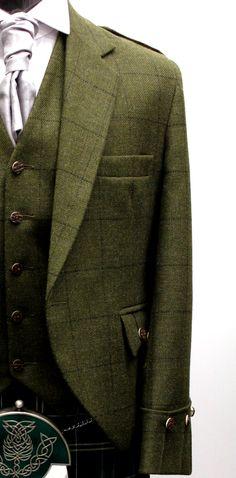 Green Tweed Jacket & Vest | Jackets & Waistcoats | Kilts 4 Less Sale  http://www.99wtf.net/category/men/mens-fasion/