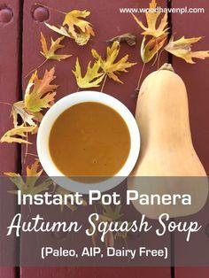 RECIPE: Instant Pot Panera Autumn Squash Soup (Paleo, AIP, Dairy Free) - Woodhaven Place
