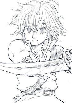 Nanatsu no Taizai Anime Drawings Sketches, Naruto Drawings, Anime Sketch, Manga Drawing, Elizabeth Seven Deadly Sins, Seven Deadly Sins Anime, 7 Deadly Sins, Film Anime, Manga Anime