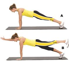 Core workout exercises.