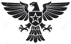 15932842-eagle-and-star-coat-of-arms-Stock-Vector-eagle-tattoo-tribal.jpg (1300×814)