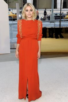 olsen in tangerine. I recently bought some items in this color and it goes great with a bronze makeup look and an ethnic pattern