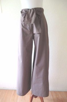 NEW LILITH DARK CHESTNUT STRETCH COTTON WIDE LEG LAGENLOOK STYLE PANTS S/38 #Lilith #WideLeg