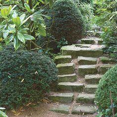 www.rustica.fr - Escalier de jardin : jouer avec les niveaux - Bordure de trottoir