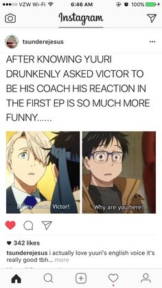 I went back and re-whatched the whole series and everything is so much funnier now that we know about Yuri getting drunk!!!!!!