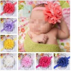 10pcs Lace Flower Kids Baby Girl Toddler Headband Hair Band Headwear Accessories #Unbranded