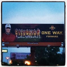 Have you seen this yet?! Check out our new Football billboard located on Fleur Ave across from Des Moines Int'l Airport! Go Cyclones!