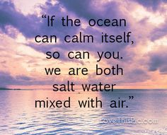 If the ocean can calm itself quotes quote life inspirational wisdom lesson