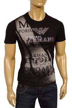 Mens Designer Clothes | EMPORIO ARMANI Round Neck Short Sleeve Tee #35 Emporio Armani, Clothing Store Displays, Crossfit Clothes, Casual Wear For Men, Designer Clothes For Men, Swag Outfits, Branded T Shirts, Mens Tees, Short Sleeve Tee