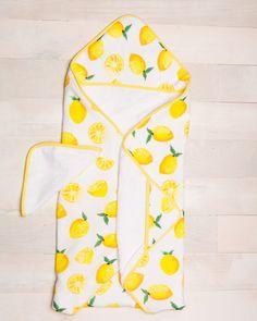 Little Unicorn Cotton Hooded Towel & Wash Cloth - Lemon Set Baby Towel, Towel Set, Cute Maternity Outfits, Rabbit Baby, Little Unicorn, Baby Online, Nursery Design, Baby Boutique, Nursery Themes