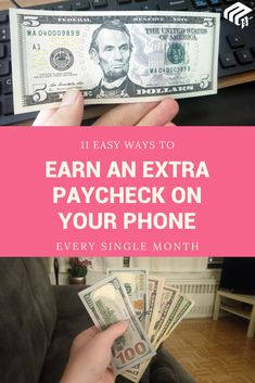 Try simple ways to make extra money Savings Challenge, Money Saving Challenge, Money Saving Tips, Make Money Now, Make Money From Home, Extra Cash, Extra Money, Military Spouse Jobs, Survey Sites That Pay