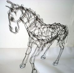 horse.  ..........wire sculpture