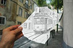 鉛筆スケッチで写真に妄想をはめ込んだ「Pencil Vs Camera」 - GIGAZINE