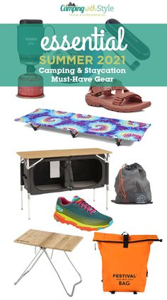 Carefree summer days are not far away now and with many of us planning to make the most of our post-lockdown freedom, we've got days out, weekends away and staycations to look forward to. Make the most of your camping trips and staycations this year with our pick of essential must-haves. #camping #camp #kelty #outwell #vango #teva #keen #primus #snowpeak #hokaoneone