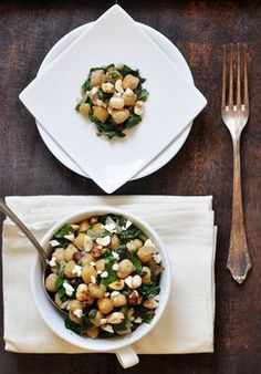 Anja's Food 4 Thought: Spinach and Chickpea Salad