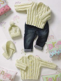 Cute knitted hats birth to 3 years in DK yarn Peter Pan Knitting Pattern 1240