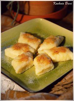 Pierogi leniwe - Kuchnia Breni Hot Dog Buns, Hot Dogs, Garlic Knots, Pretzel Bites, Main Dishes, Bread, Pierogi, Food, Dish