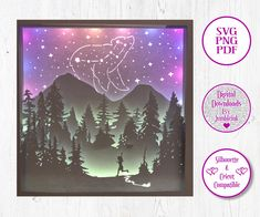 The Little Dipper Star Constellation - 3D Paper Cut Template Light Box SVG Digital Download Files by Jumbleink on Etsy Mermaid Coloring Pages, Coloring Pages For Kids, Funny Monsters, Cabin Christmas, Star Constellations, Paper Light, Just Dream, Shadow Box Frames, Doodle Designs