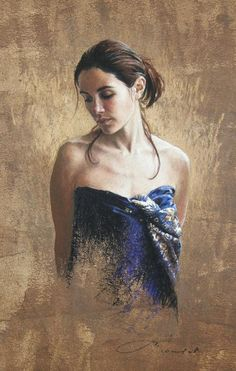 Blue and Gold nathalie  picoulet france pastels