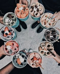 food aesthetic food, delicious, and ice cream image Cute Food, I Love Food, Good Food, Yummy Food, Healthy Food, Healthy Heart, Eating Healthy, Kreative Desserts, Milk Shakes