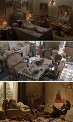 The Dreamers - Theo and Isabelle's apartment Film Aesthetic, Aesthetic Bedroom, Aesthetic Vintage, Dreamers Movie, The Dreamers, Shot Film, Movie Shots, Film Inspiration, The Secret History