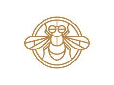 Fly designed by Joe Osborne. Logos, Logo Branding, Line Illustration, Illustrations, Brand Design, Logo Design, Cricket Logo, Bush Garden, Animals Images