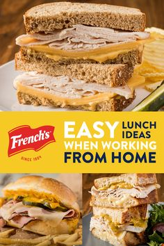Need new cooking ideas? Find dinner recipes, fun appetizers, easy desserts, and party food ideas for any occasion with these delicious recipes from French's. Lunch Snacks, Lunch Recipes, Meat Recipes, Dessert Recipes, Cooking Recipes, Desserts, Sandwich Cubano, Cuban Sandwich, Sandwiches For Lunch