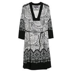 Buy Violeta by Mango Baroque Print Dress, Black Online at johnlewis.com