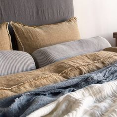 Shop our pure linen luxury collection. Our products are grown, spun, woven and sewn in Europe. Discover relaxed living with the luxury of our linen bedding. Linen Sheets, Linen Duvet, Bed Sheets, Best Bedding Sets, Bedding Sets Online, Comforter Sets, Ikea, Master Suite, Master Bedroom