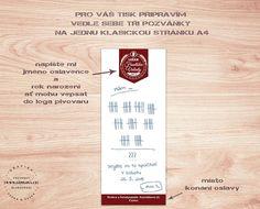 Vtipná narozeninová pozvánka na pivo - pivní účtenka | Lepilova.cz Drinks, Food, Drinking, Beverages, Essen, Drink, Meals, Yemek, Beverage