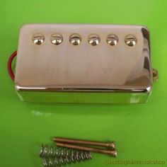HUMBUCKER ELECTRIC GUITAR PICKUP GOLD COVERED