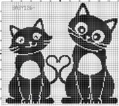 Love cats x-stitch Cross Stitching, Cross Stitch Embroidery, Embroidery Patterns, Pixel Crochet, Crochet Chart, Cross Stitch Charts, Cross Stitch Patterns, Cross Stitch Animals, Tapestry Crochet