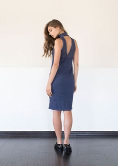 Sabrina Dress in Blue
