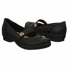 Women's Clarks Ideo Rake Black Oily Leather Shoes.com