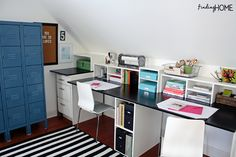 1 Reader Space: A Charming Place to Create I like the storage on top of the desk