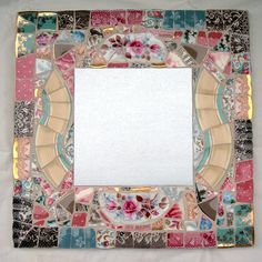 Beautiful done Mosaic! That is a mirror in the center. With or without, sweet! I'd have fun just smashing stuff. :) (kidding...sorta).