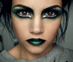 This would be so cute for a costume party.   CORIN THIS COULD BE YOUR MAKE UP!!!!