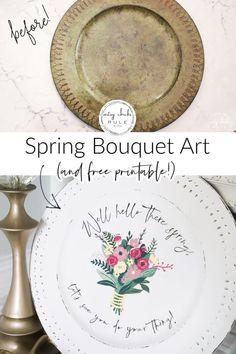 Printable Art, Free Printables, Dark Flowers, Thrifty Decor, Spring Bouquet, White Chalk, Hello Spring, Hello Beautiful, Transfer Paper