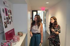 #mark. president Meg Lerner stops by to check out the event
