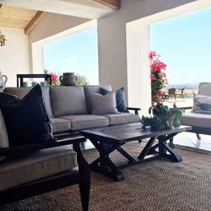 Outdoor Living Space | Custom Outdoor Furniture|  Coastal Meets Transitional - Kathy Ann Abell Interiors Outdoor Sofa, Outdoor Living, Outdoor Furniture, Outdoor Decor, Living Spaces, Coastal, Interior Design, Ann, Interiors