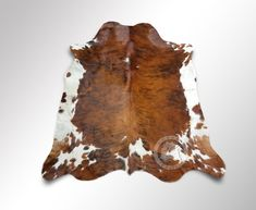 New COWHIDE RUG BRINDLE TRICOLOR 6'x6' Cow Skin Rug Leather Cow Hide  #LuxuryCowhides #Country