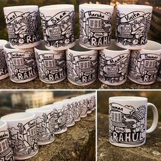 Farewell gift for friends. It was more than 5 years of bonding, love and togetherness. They not only worked together also shared beautiful moments. Hence, when Rahul decided to move on to grab the new opportunity,he gave every team member personalised mug to cherish all those memories. #mug  #prartinc  #corporategift  #illustrated  #customised  #gifts  #personalised  #farewellgift