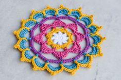 Just another Mandala Pattern – The Loopy Stitch Crochet Stars, Crochet Flowers, Crochet Granny, Crochet Doilies, Knitting Projects, Crochet Projects, Knitting Ideas, Crochet Ideas, Free Mandala Crochet Patterns