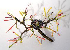 Sal-villano-wire-tree-sculpture-bird-nest brass wire & enamil paint