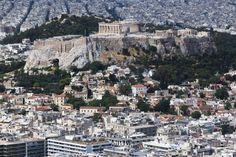 The Acropolis far back