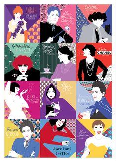 agenda diglee- patchwork égéries Virginia Woolf, What Is Feminism, Feminist Icons, Woman Illustration, Women In History, Girls Be Like, Women Empowerment, Female Art, Kawaii