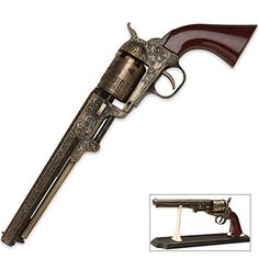 Black Powder Outlaw Revolver Replica With Stand -- Read more reviews of the product by visiting the link on the image.(This is an Amazon affiliate link and I receive a commission for the sales)