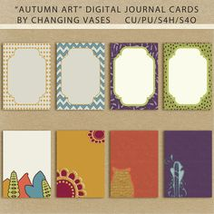 "Free ""Autumn Art"" Digital Journal Cards from Changing Vases"
